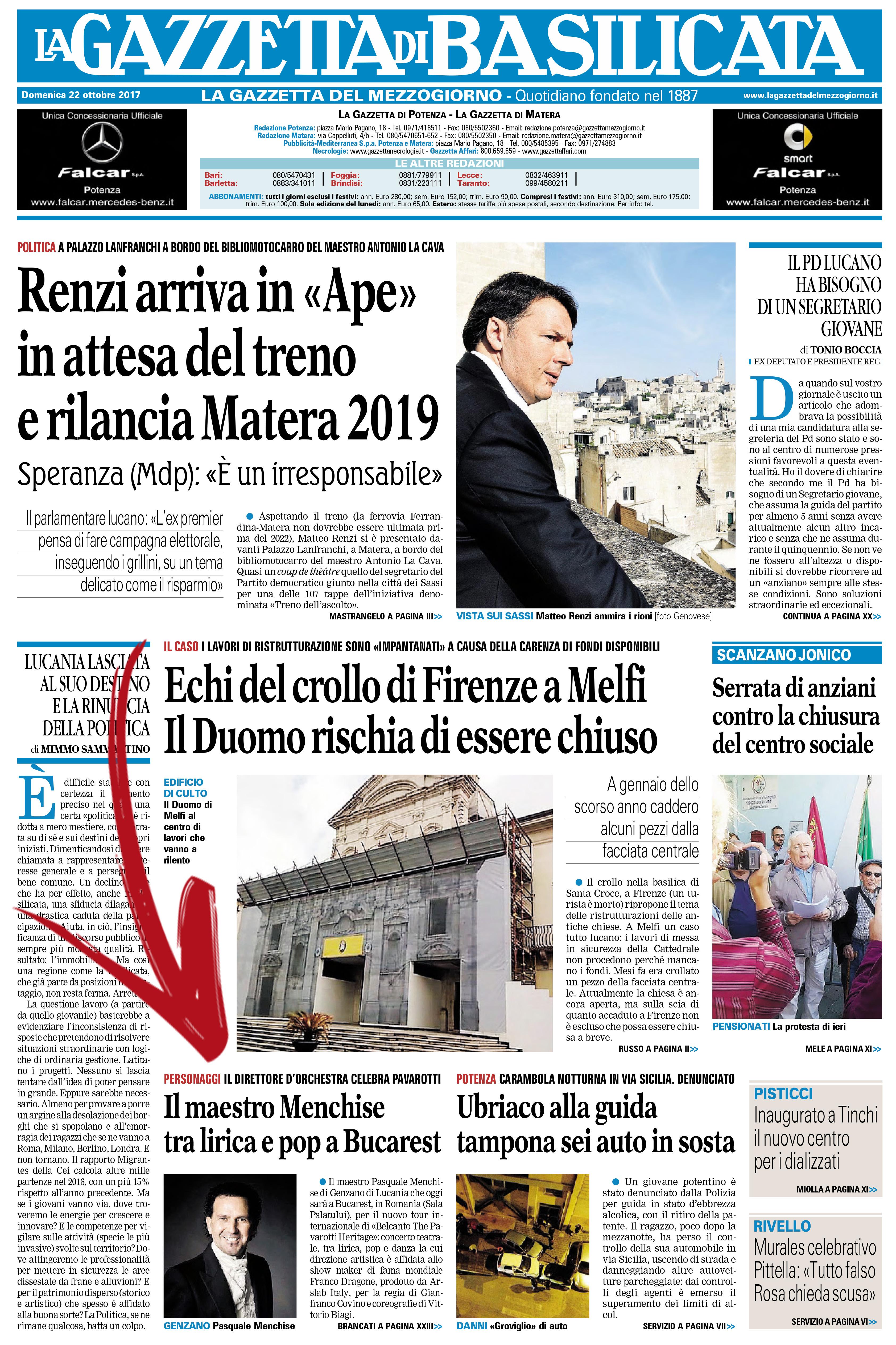 La Gazzetta_22 ottobre 2017_primapagina
