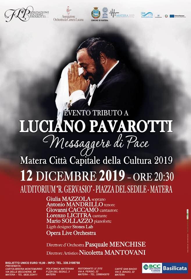 Pavarotti Messaggero di Pace_Menchise_locandina