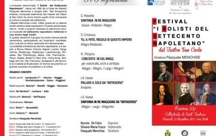 """A Venosa il 22 dicembre: Festival """"I Solisti del Settecento napoletano"""""""