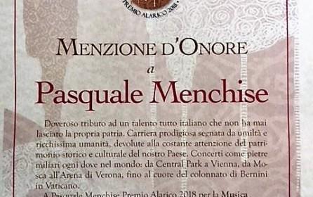 """""""Premio Alarico 2018 per la Musica"""" al Maestro Menchise"""