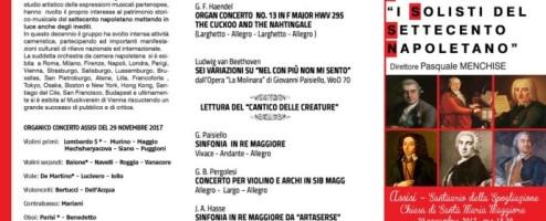 """""""I Solisti del Settecento napoletano"""" il 29 novembre ad Assisi"""